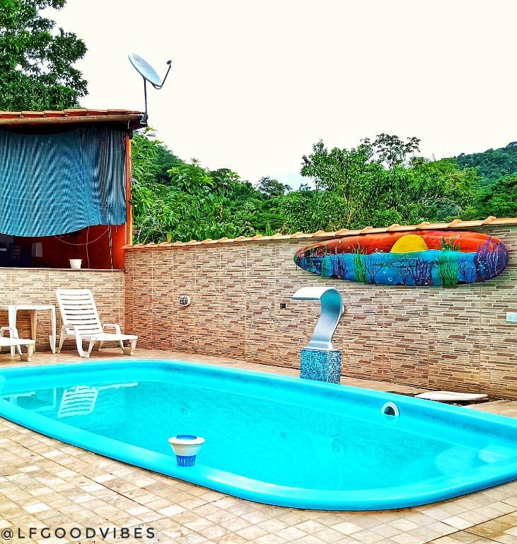 piscina do Chalé Cantão de Itamambuca em Ubatuba