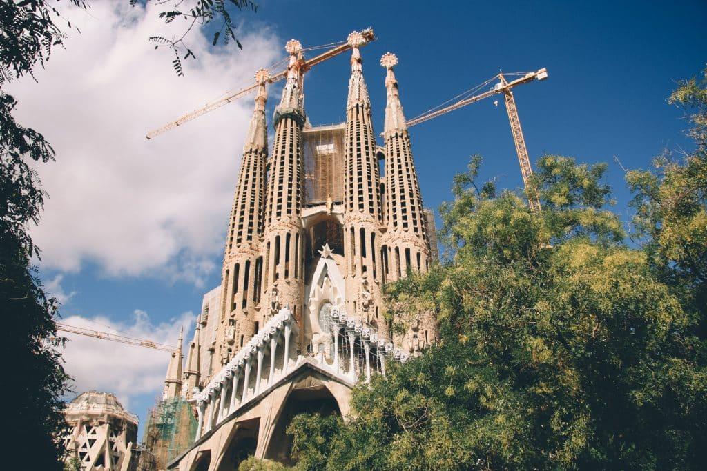 Detalhe da Basílica Sagrada Família, em Barcelona
