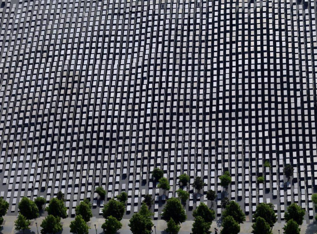 vista aerea do Memorial aos Judeus Mortos da Europa