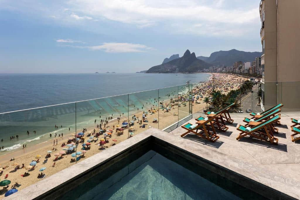 vista do hotel arpoador em Ipanema