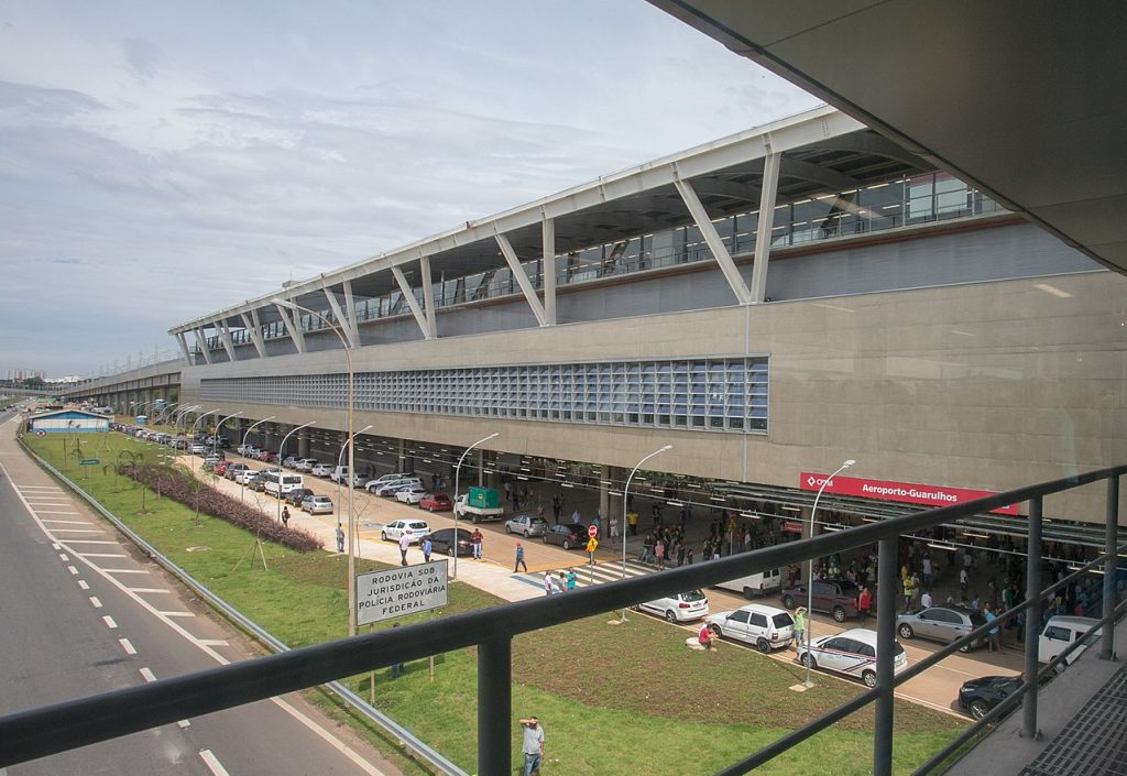 Parte do Aeroporto de Guarulhos, onde fica a linha Jade