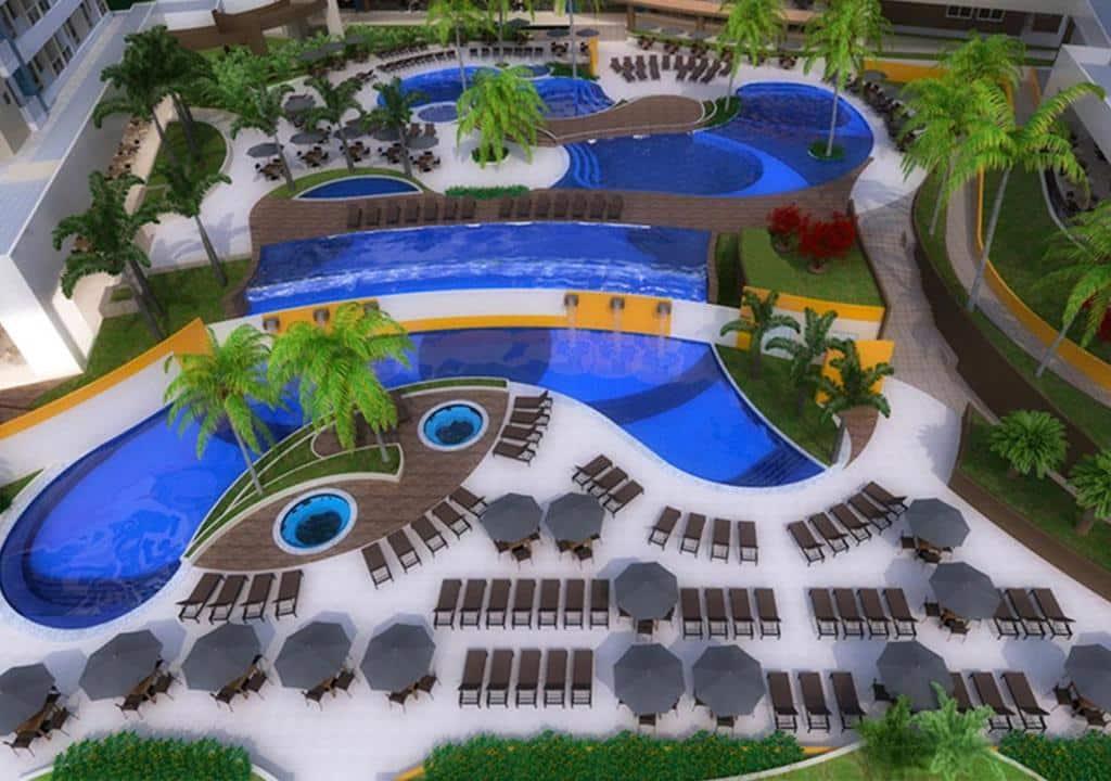 piscinas do Enjoy Solar das Águas Park Resort