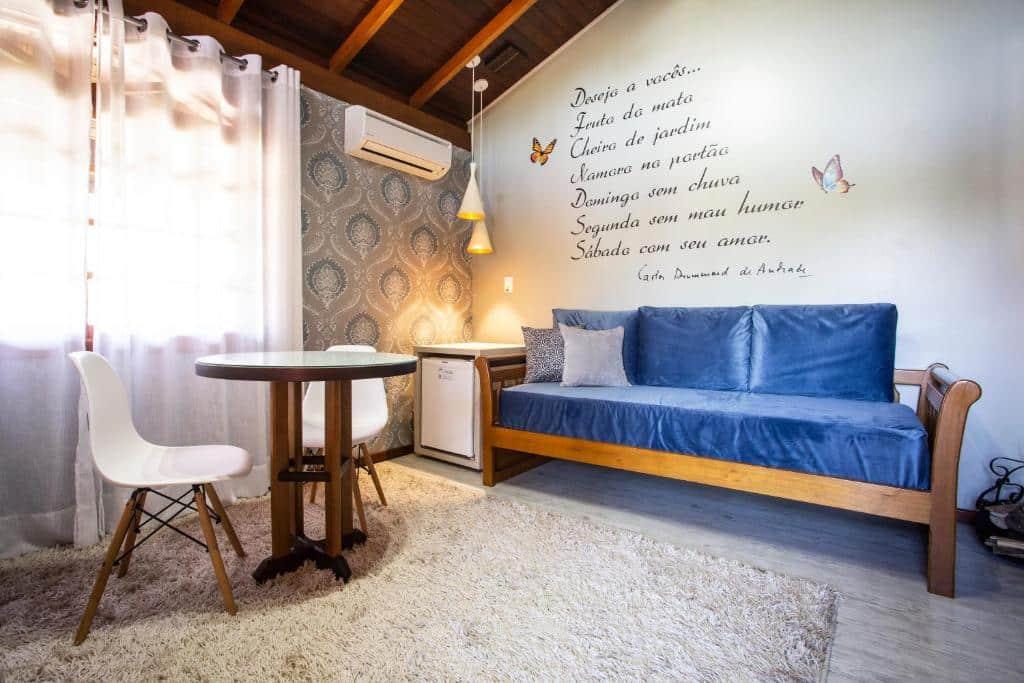 quarto do Hotel Bangalôs da Serra em Gramado