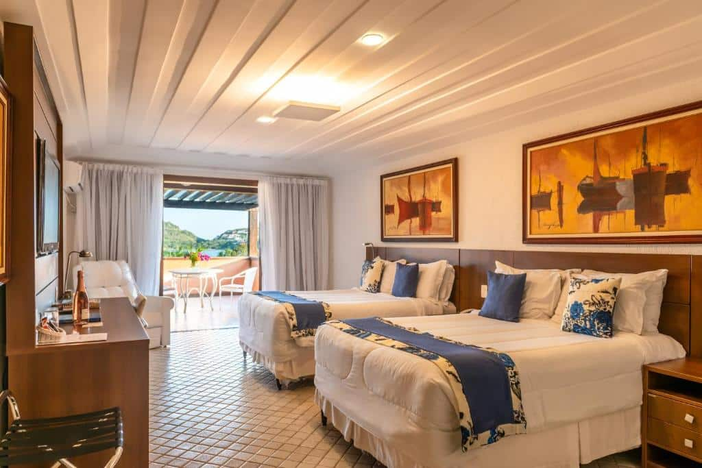 suíte do Hotel Ferradura Resort
