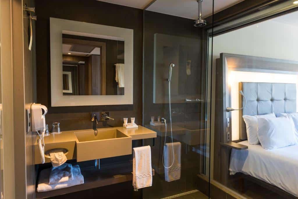banheiro do Novotel RJ Praia de Botafogo