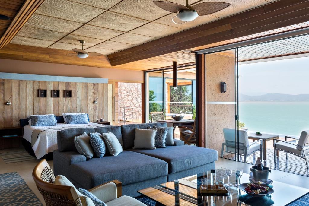 suíte da Ponta dos Ganchos Exclusive Resort