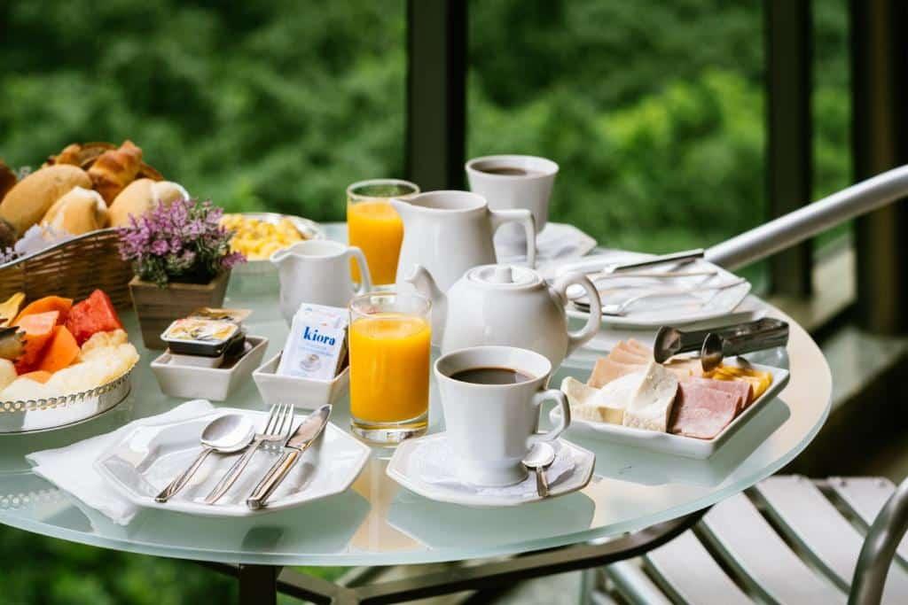 café da manhã no Own Ipanema Visconti