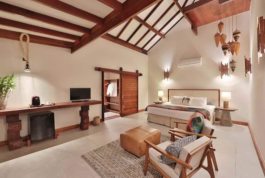 quarto do hotel Camurim Grande