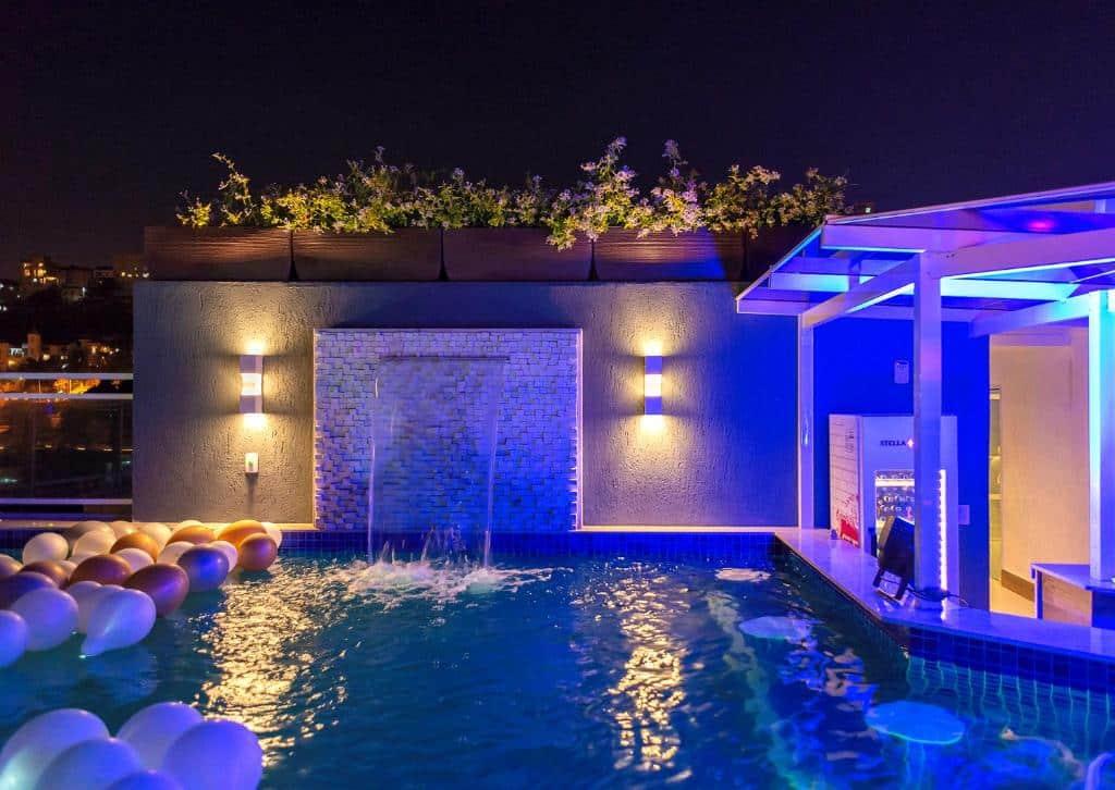 piscina do Casa Nova Hotel no centro do rio de janeiro