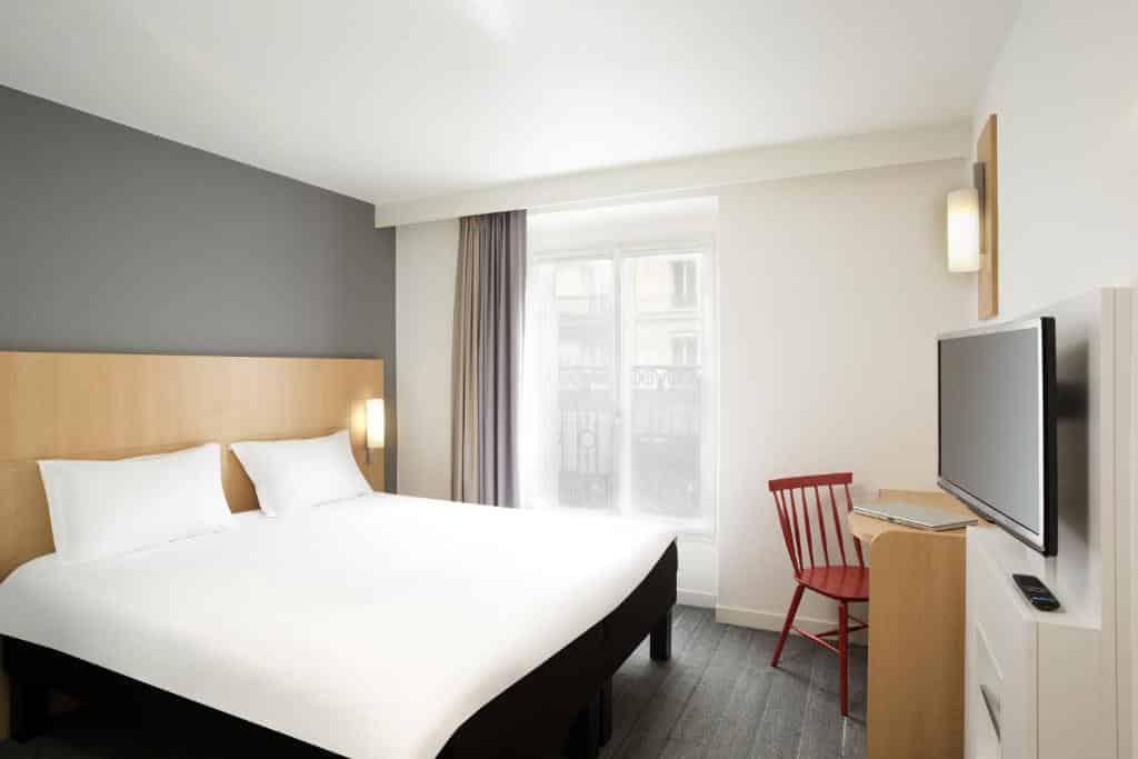 Um dos hotéis perto da Gare du Nord