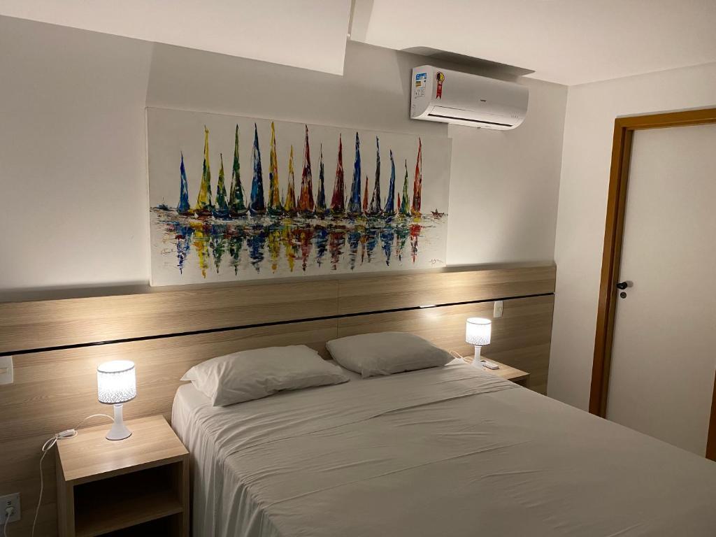 quarto do Flats Resort Porto Beach