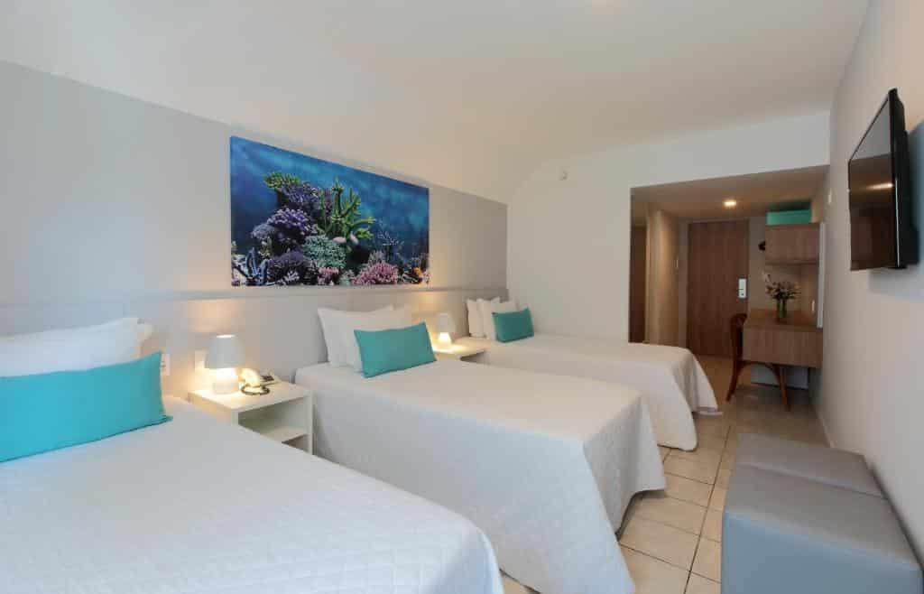 quarto do Hotel Ponta Verde Maceió