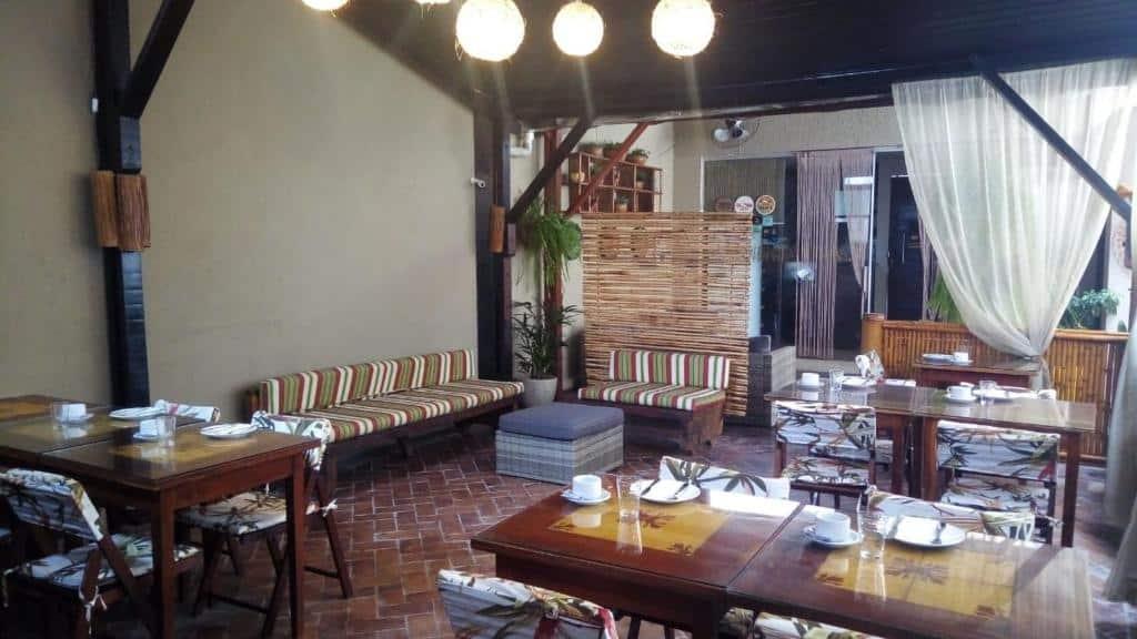 refeitório da Pousada Aquarela do Brasil em Maceió