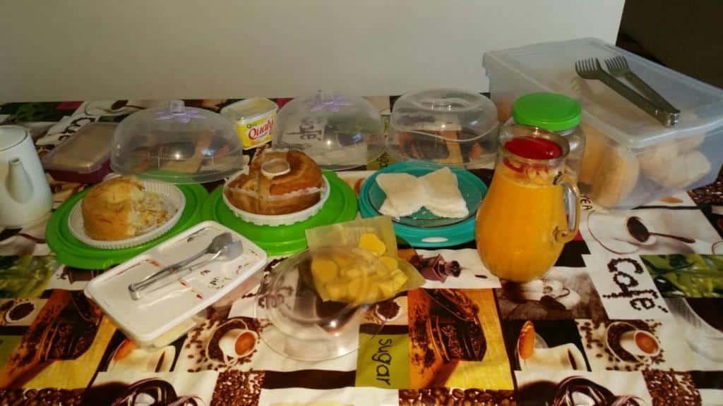 café da manhã da Pousada Pouso Feliz