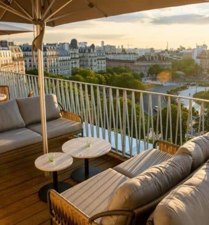 Vista de Paris do terraço de um dos hostels de Paris, o Les Piaules - Nation