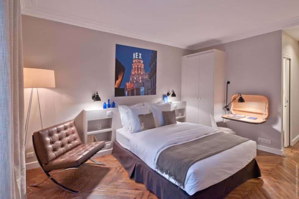 Um dos hotéis boutique em Paris