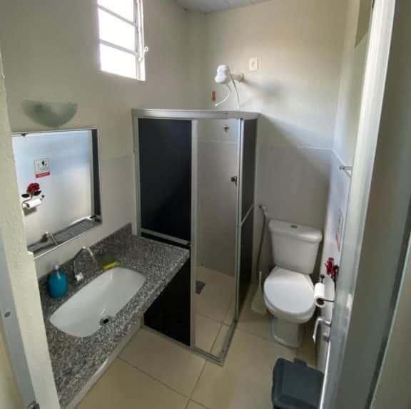banheiro da Pousada Hostal Iracema