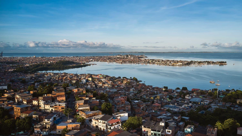 Vista panorâmica de Salvador, na Bahia