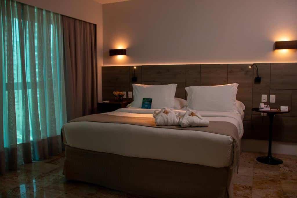 quarto do Hotel Atlante Plaza