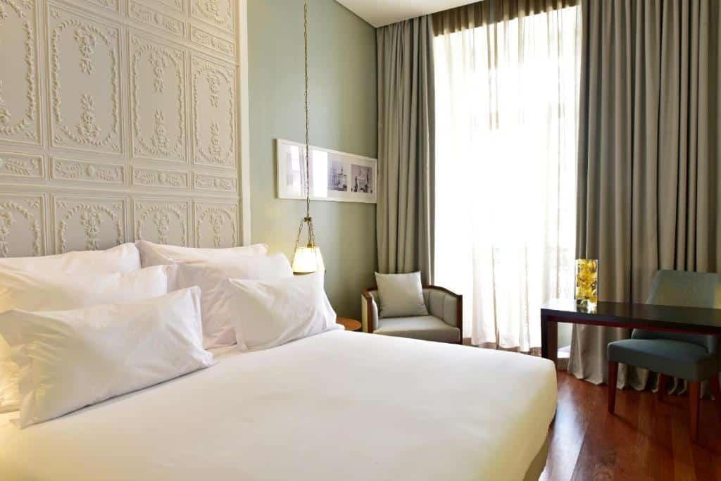 Um dos hotéis de luxo em Lisboa